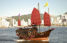 Tsim Sha Tsui to Stanley Red-Sail Junk Boat Ride