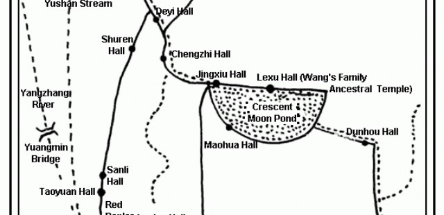 Hongcun Village Map