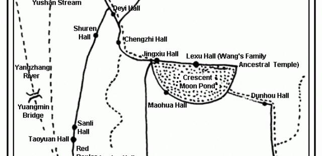 Hongcun Village Map