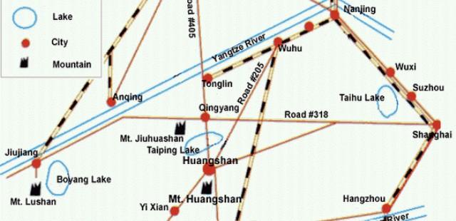 Huangshan Transportation Map
