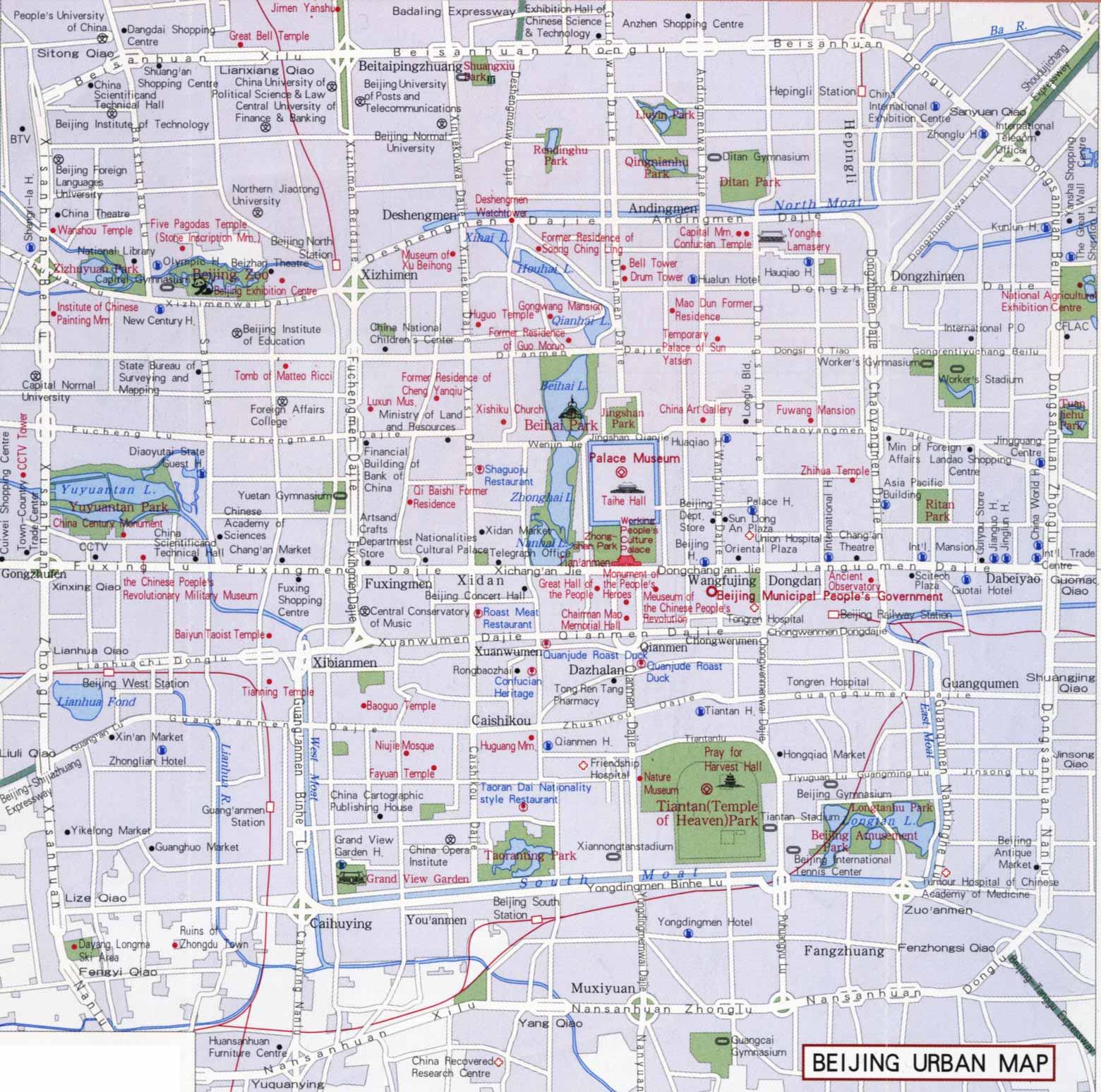 Beijing Urban Map