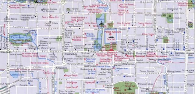 Beijing Urban Map