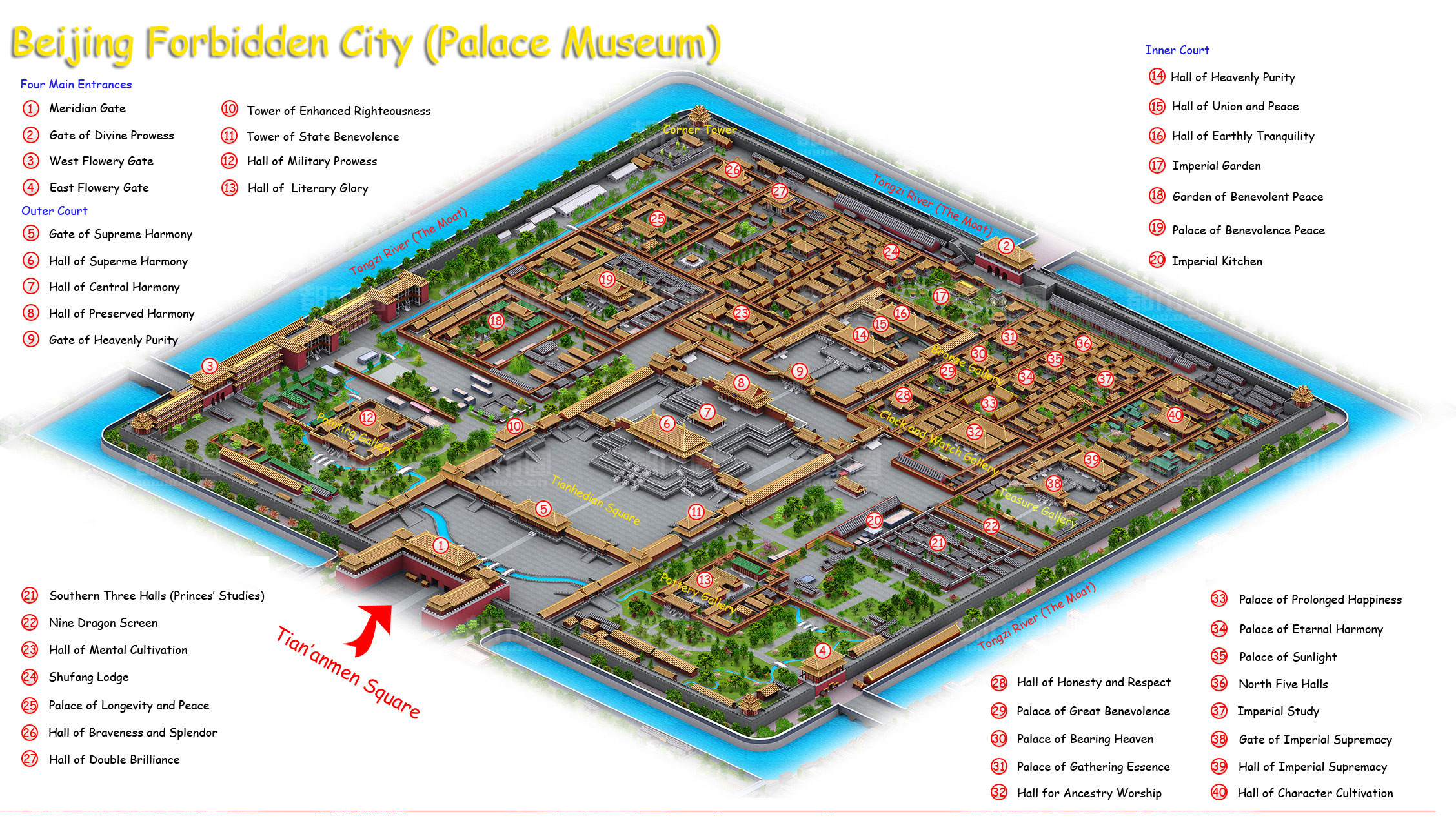 Forbidden City Map