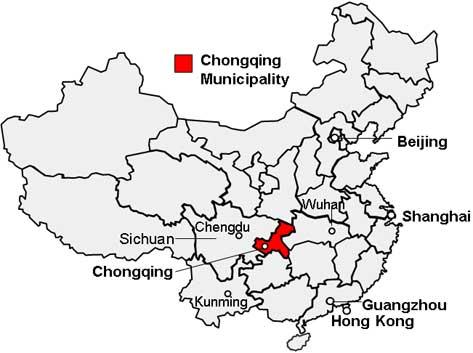 Chongqing Location Map