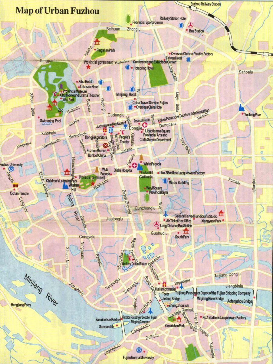 Fuzhou City Map