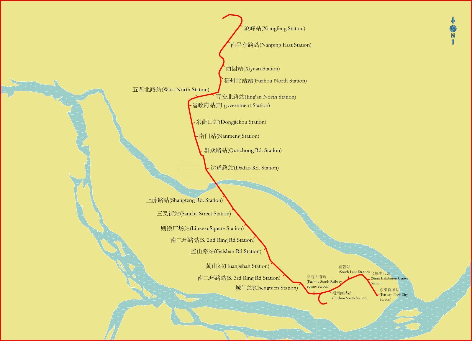 Fuzhou Subway Map