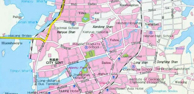Xiamen City Map