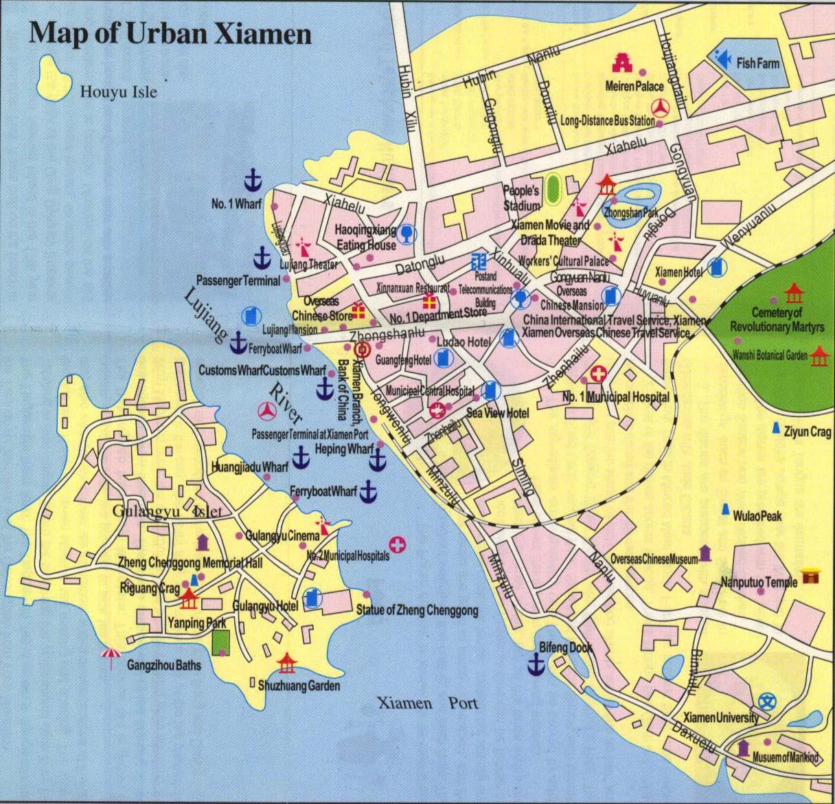 Xiamen Attractin Map