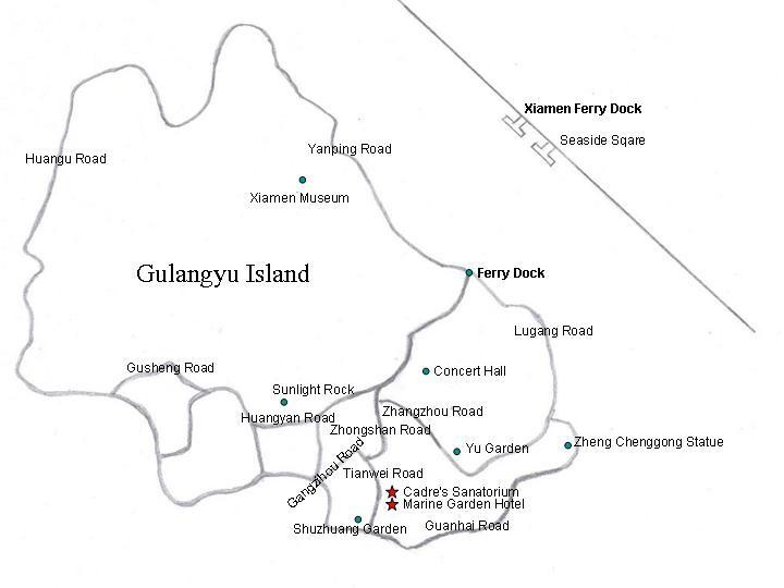 Gulangyu Island Map
