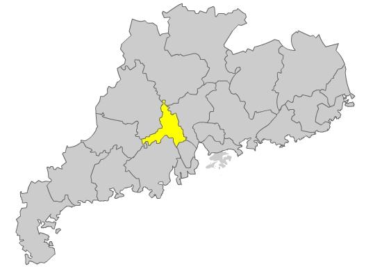 Foshan Location Map