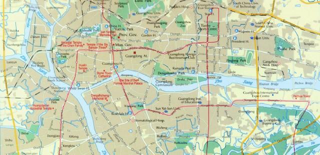 Guangzhou Tourist Map