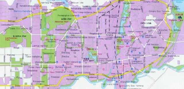 Shenzhen City Map