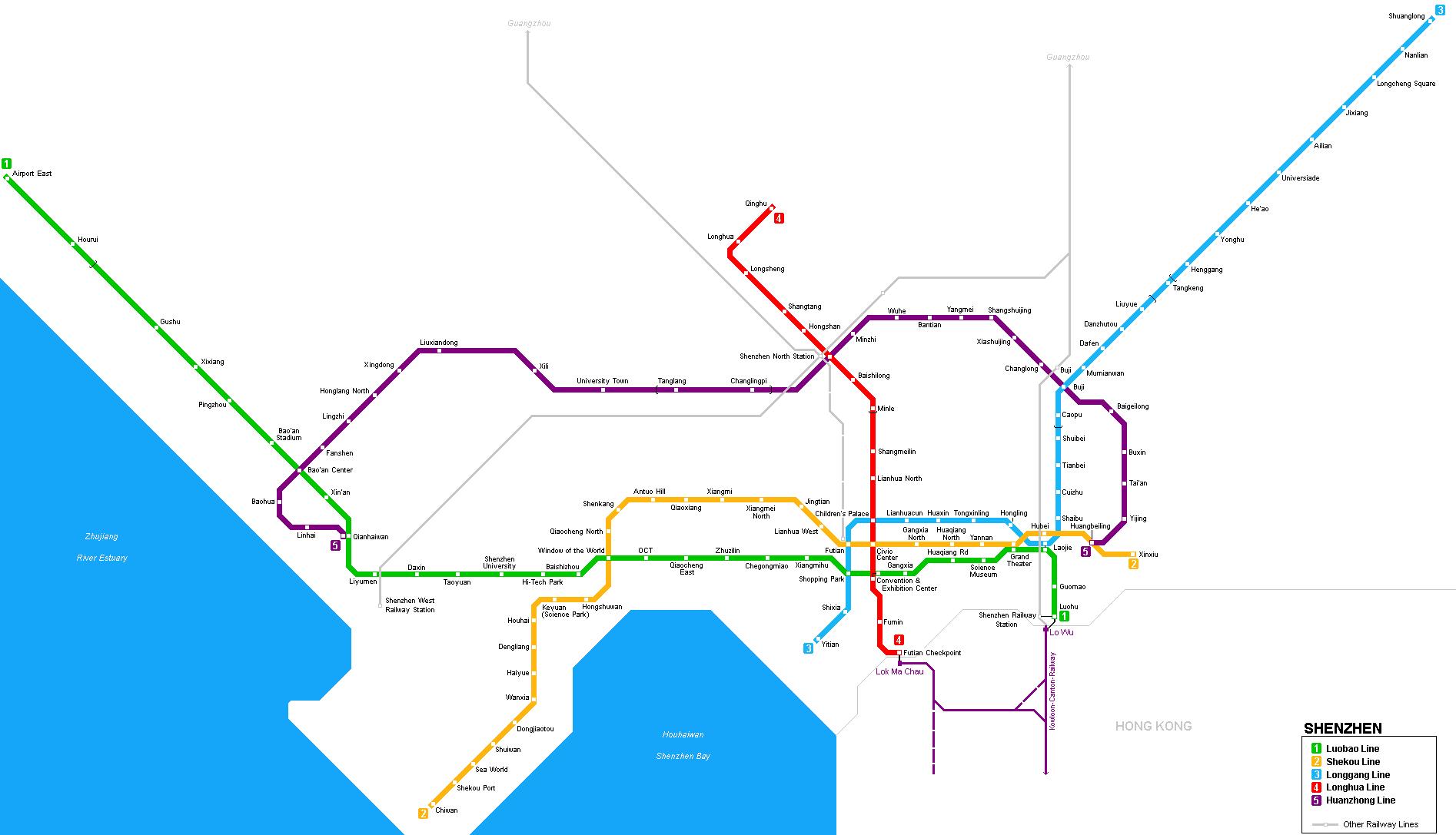Shenzhen Subway Map