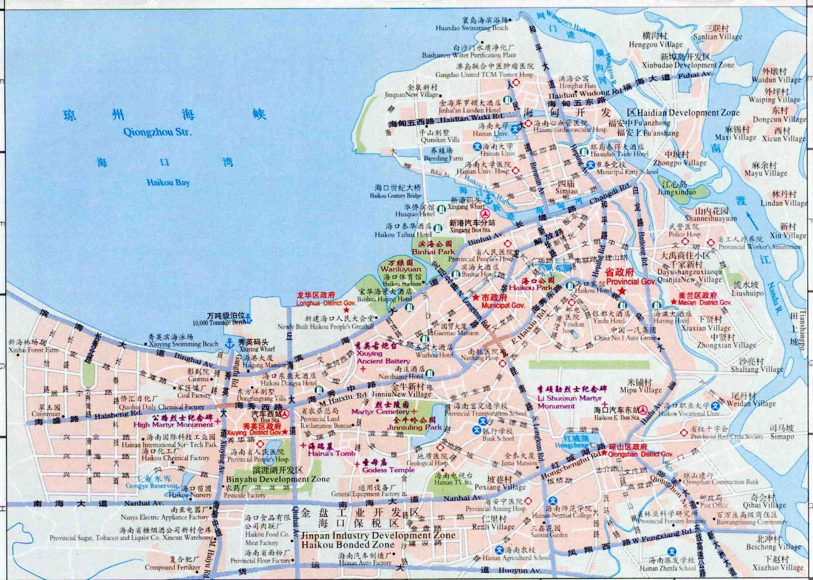 Haikou Street Map