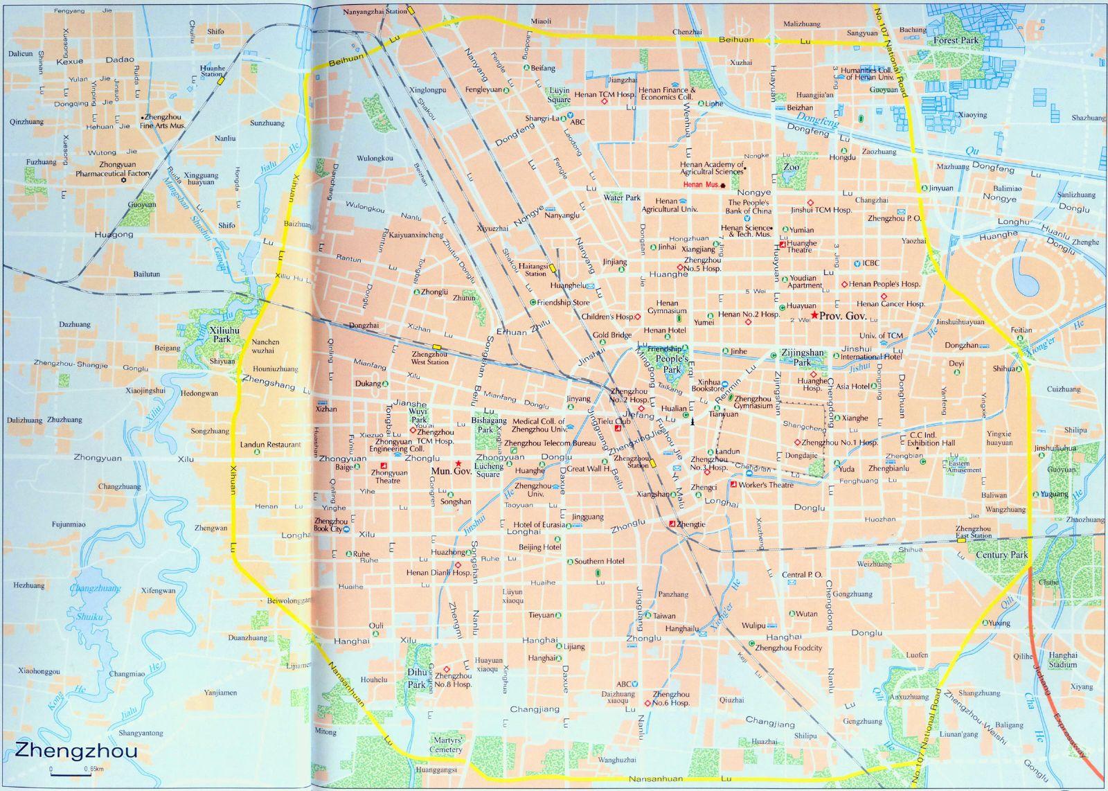 Zhengzhou City Map