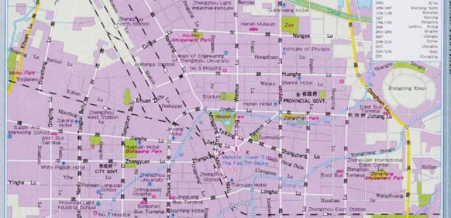 Zhengzhou Street Map