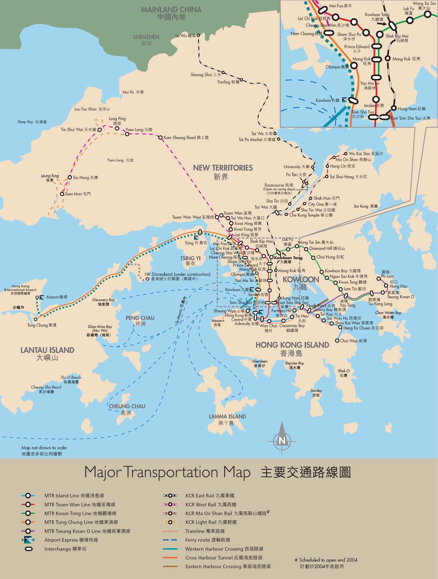 Hong Kong Transportation Map
