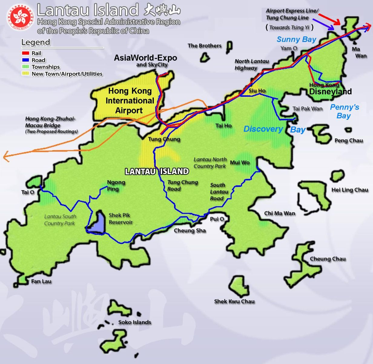 Hong Kong Lantau Island Map