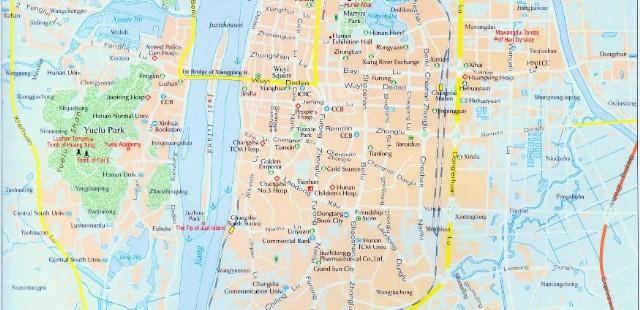 Changsha City Map