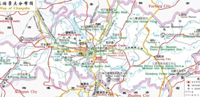 Changsha Tourist Map