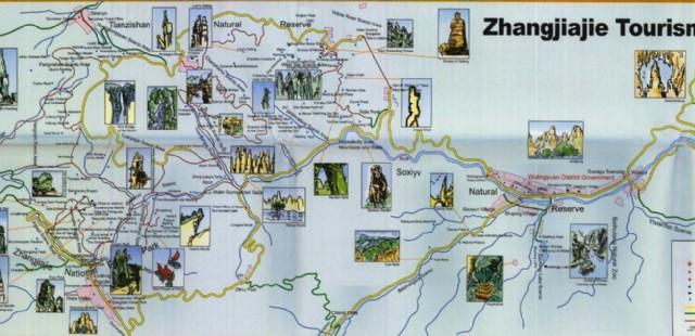 Zhangjiajie Travel Map