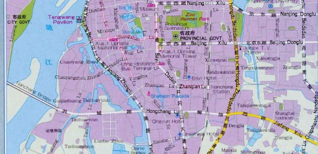 Nanchang City Map