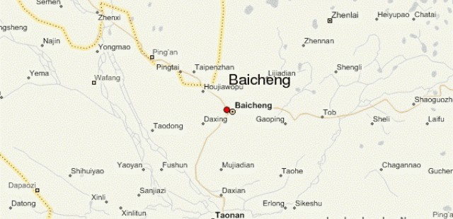 Baicheng Location Map