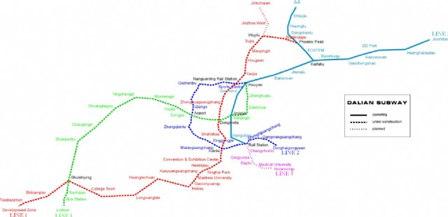 Dalian Subway Map