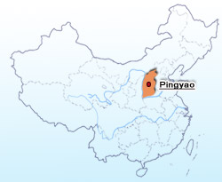 Pingyao Location Map