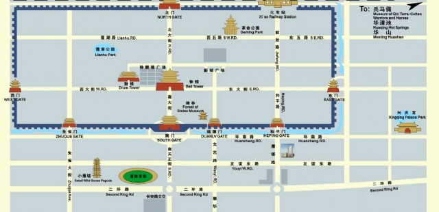Xi'an Attraction Map