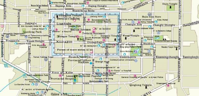 Xian Hotel Map