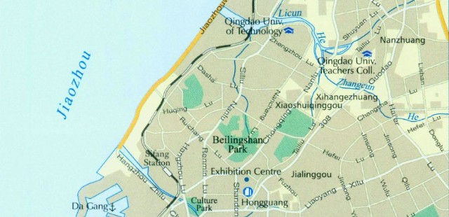 Qingdao City Map