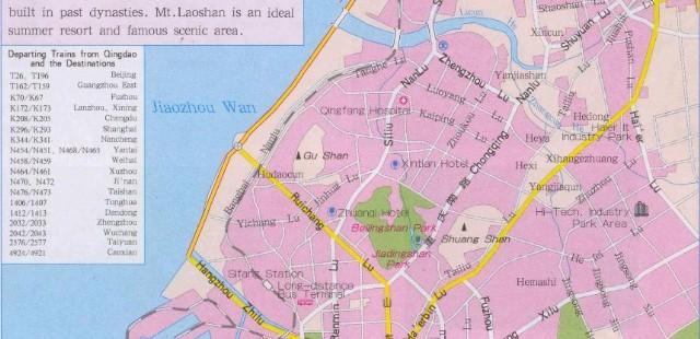 Qingdao Street Map
