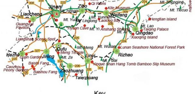 Qingdao Travel Map