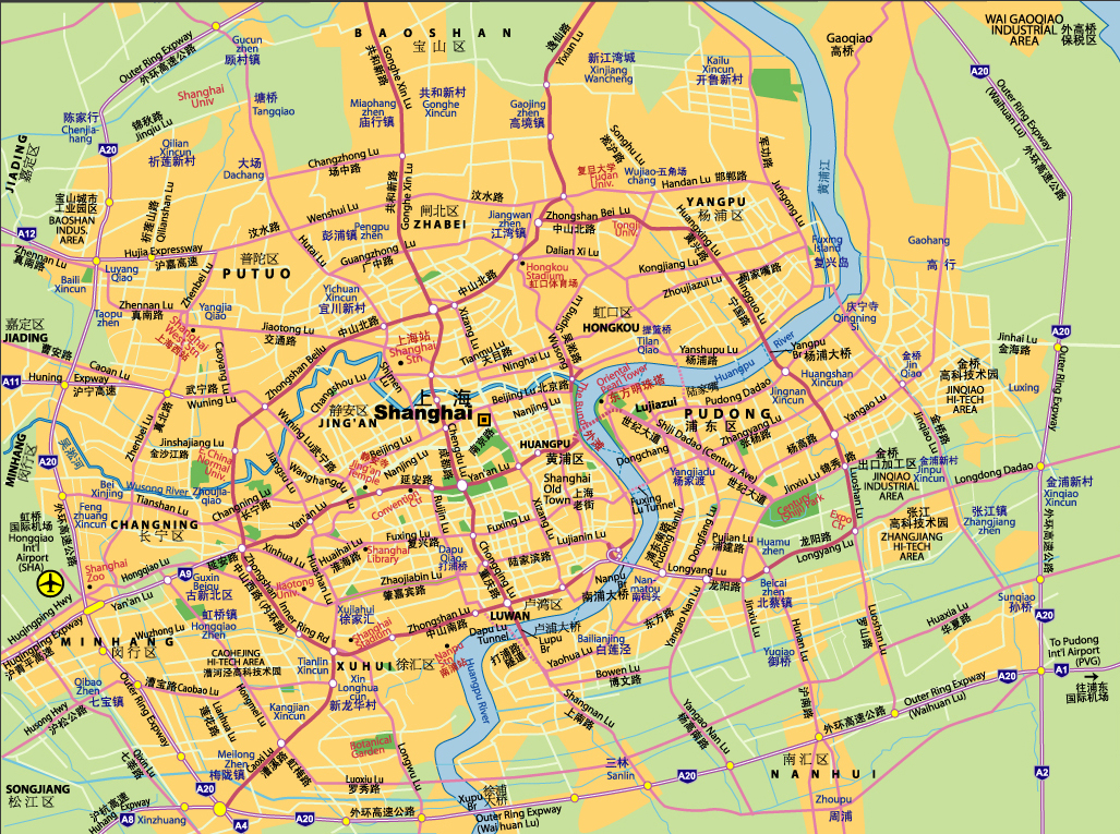 Shanghai District Map