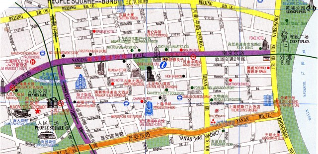 Shanghai Bund Map