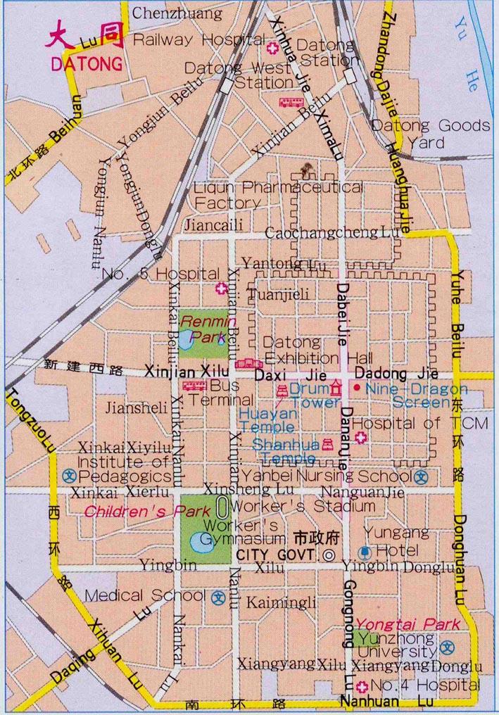 Datong City Map