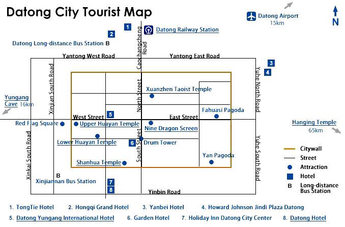 Datong Tourist Map