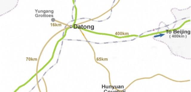 Datong Transport Map