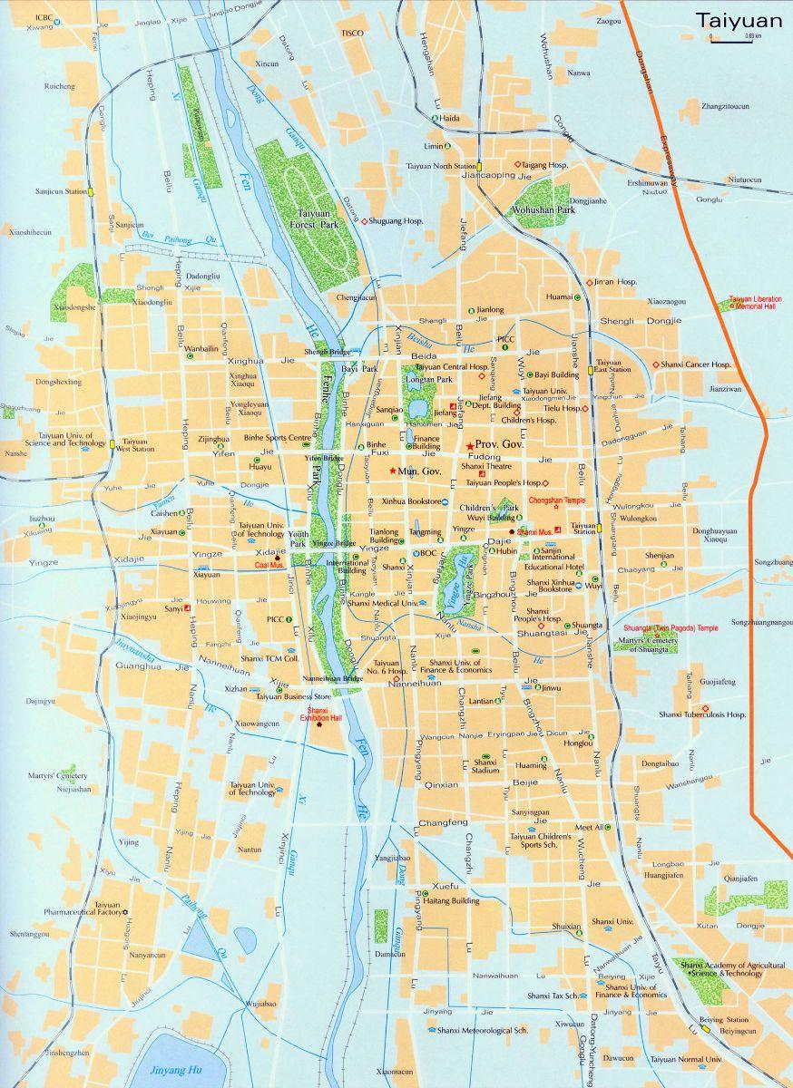 Taiyuan City Map