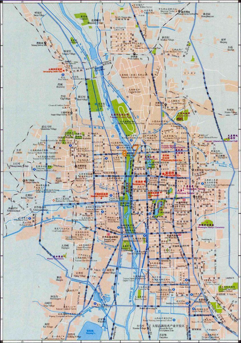 Taiyuan Street Map