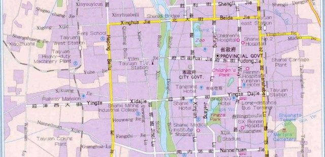 Taiyuan Transportation Map