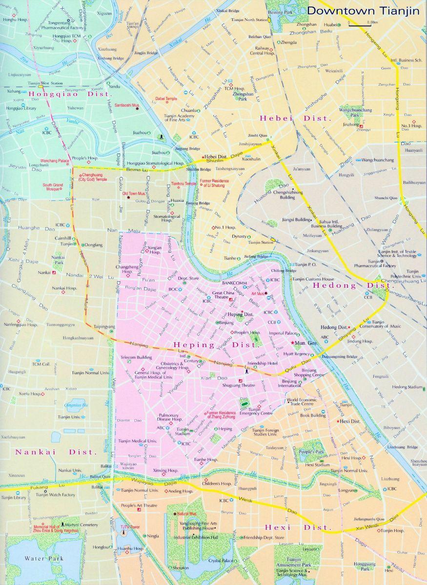 Tianjin City Map