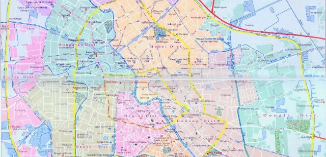 Tianjin and Tanggu Map