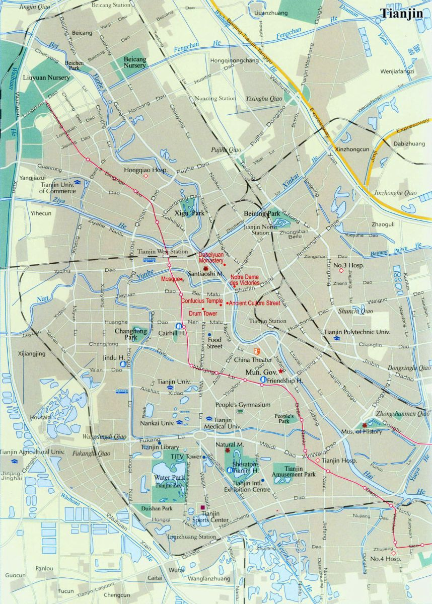 Tianjin Transportation Map