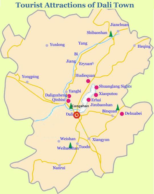 Dali Attraction Map