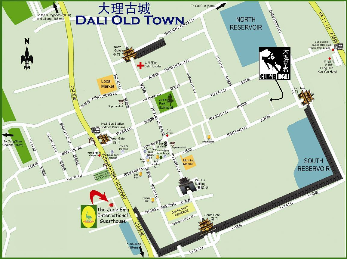 Dali Old Town Map