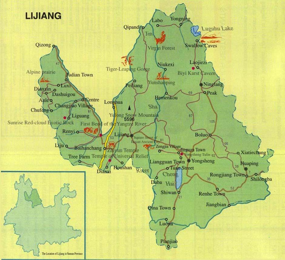 Lijiang City Map
