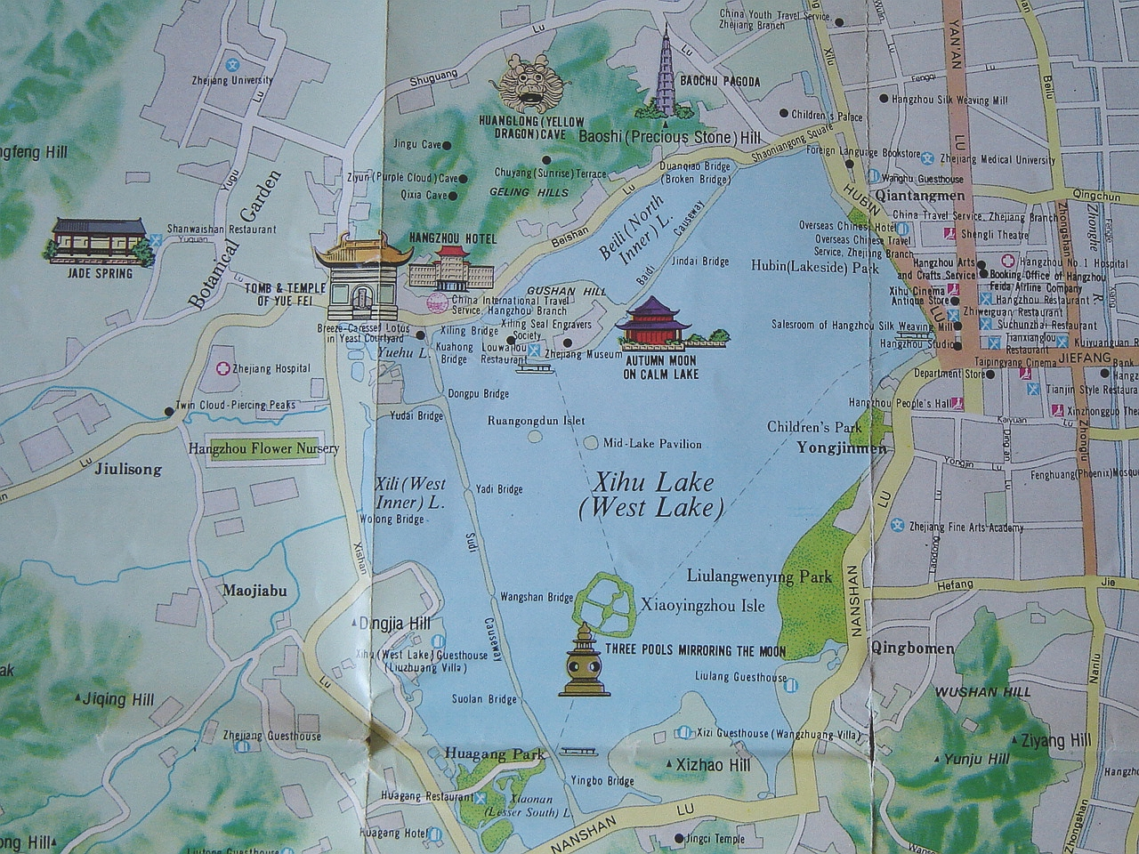 Hangzhou West Lake Map