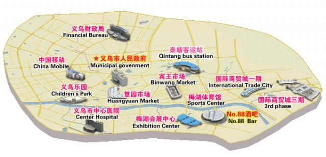 Yiwu Tourist Map